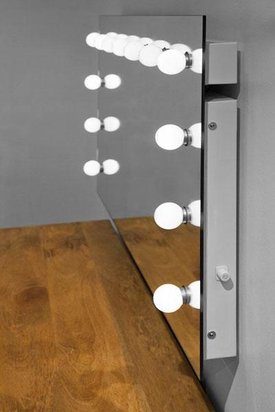 specchio hollywood per trucco camerino k90 ebay. Black Bedroom Furniture Sets. Home Design Ideas