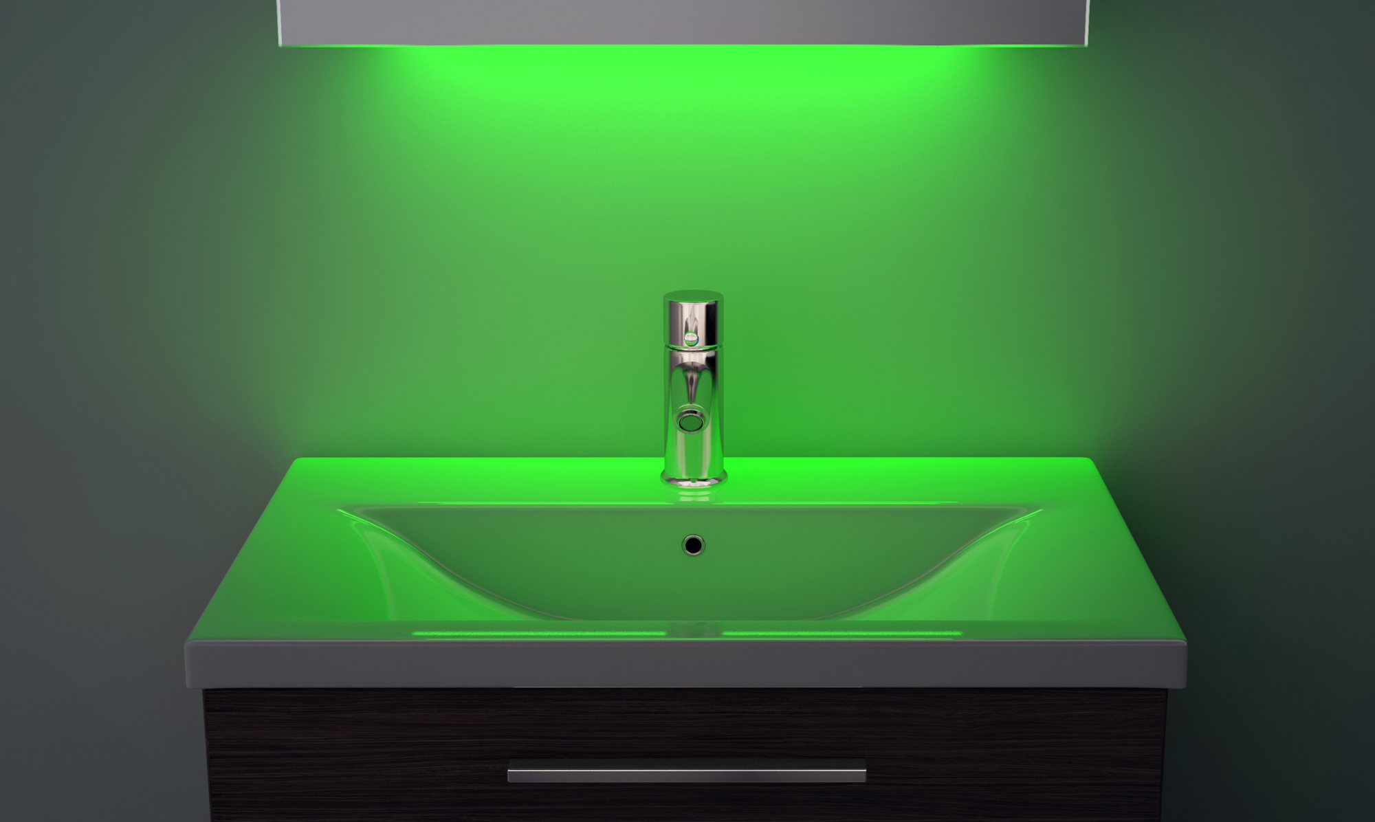 Miroir de toilette ultra mince lumi re d ambiance led for Lumiere led miroir