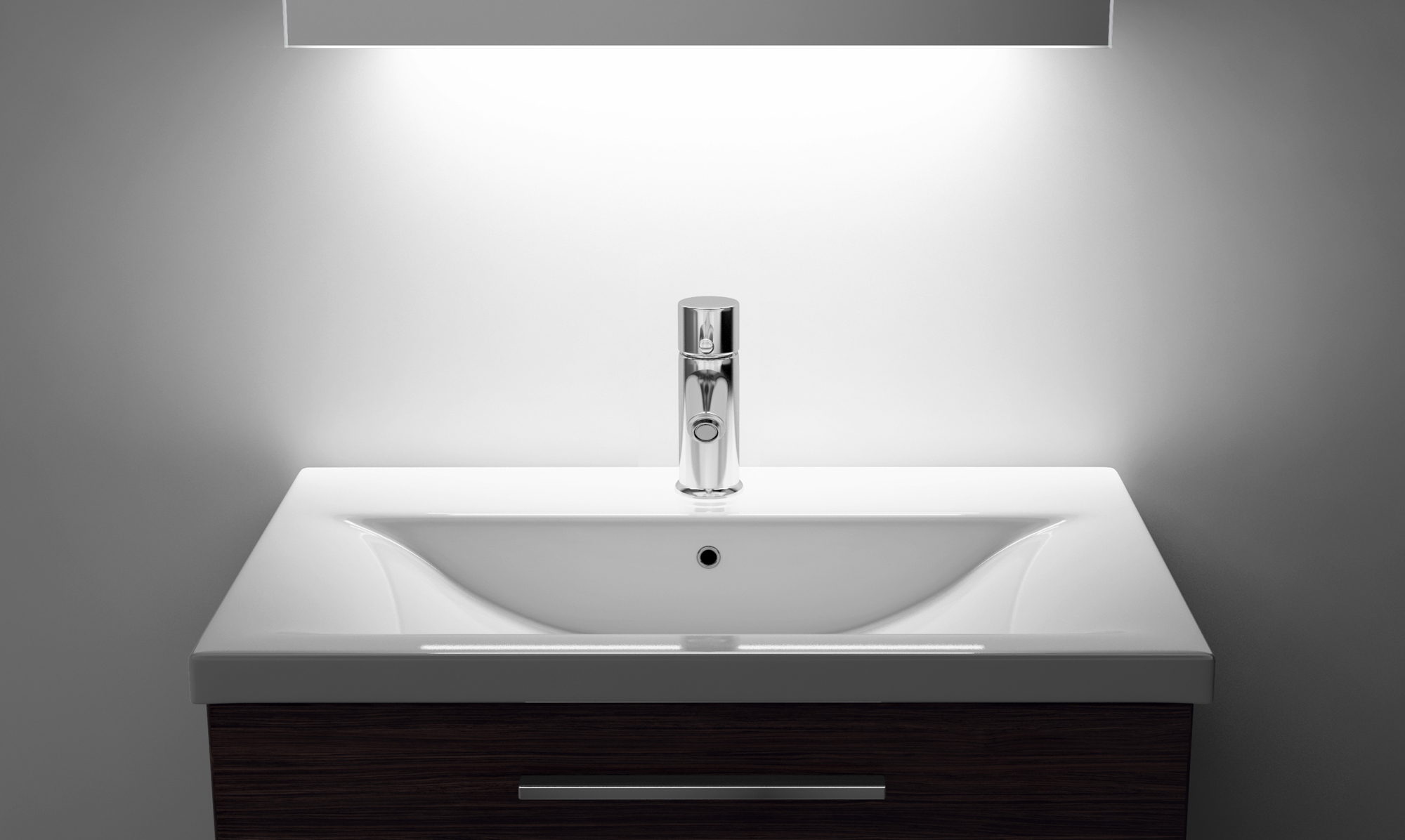 White And Chrome Bathroom Shaver Light With: Bathroom Shaver Mirror With UnderLighting, Bluetooth