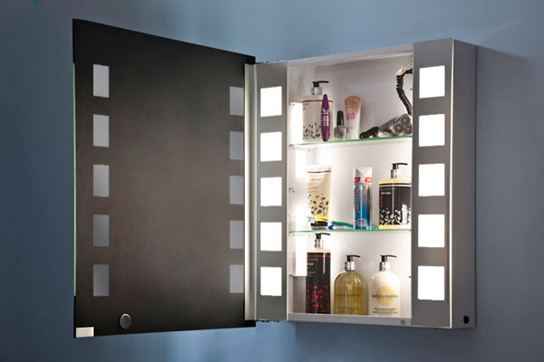 cabinet medium h 750mm x w 650mm x d 140mm illuminated mirrors