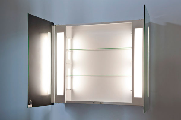 mirror bathroom cabinet with shaver socket ambient bathroom mirror cabinet with sensor amp 25610