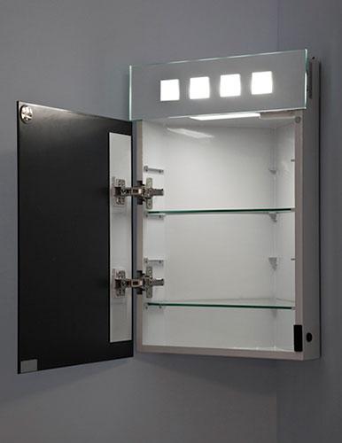 armoire de toilette d angle alita avec prise rasoir et capteur k145 ebay. Black Bedroom Furniture Sets. Home Design Ideas