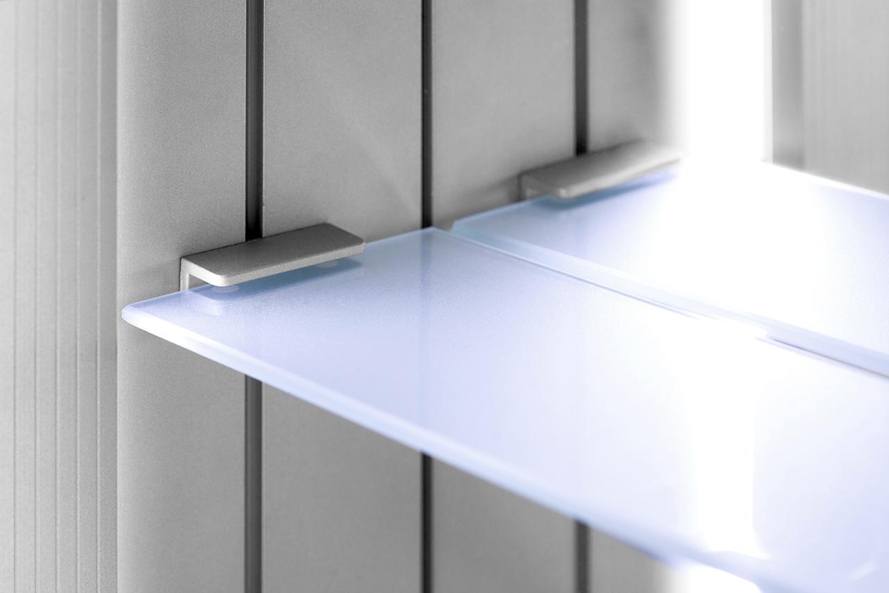 odelle led bathroom cabinet with demister pad sensor shaver k358