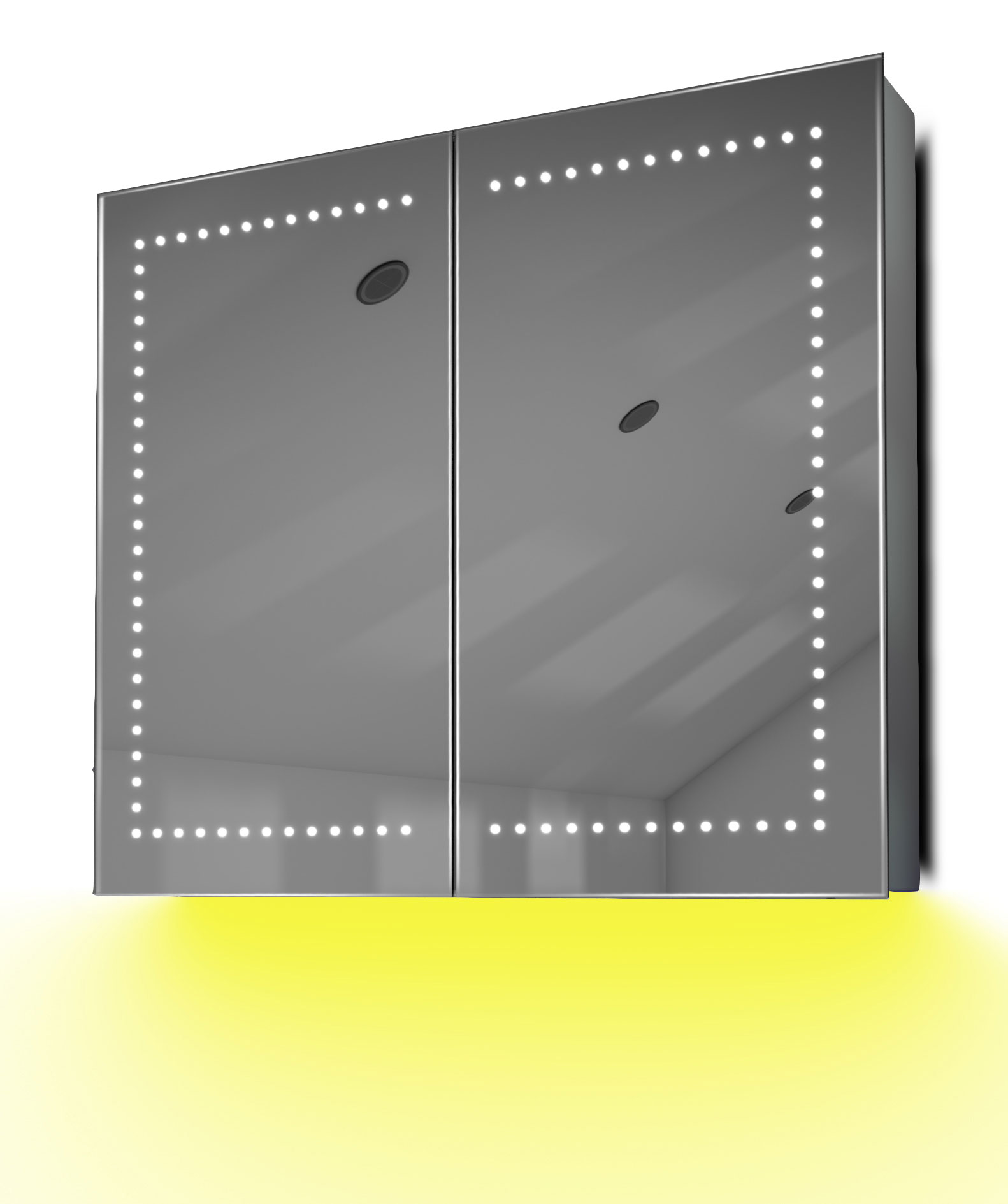 armoire de toilette anti bu e avec capteur et prise rasoir int rieure k365y ebay. Black Bedroom Furniture Sets. Home Design Ideas