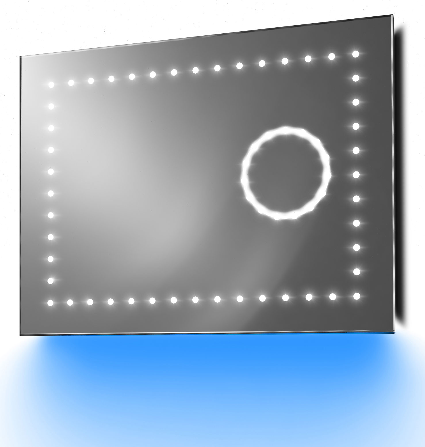 miroir grossissant slimline r trolumineux ambiant anti bu e capteur k100b ebay. Black Bedroom Furniture Sets. Home Design Ideas