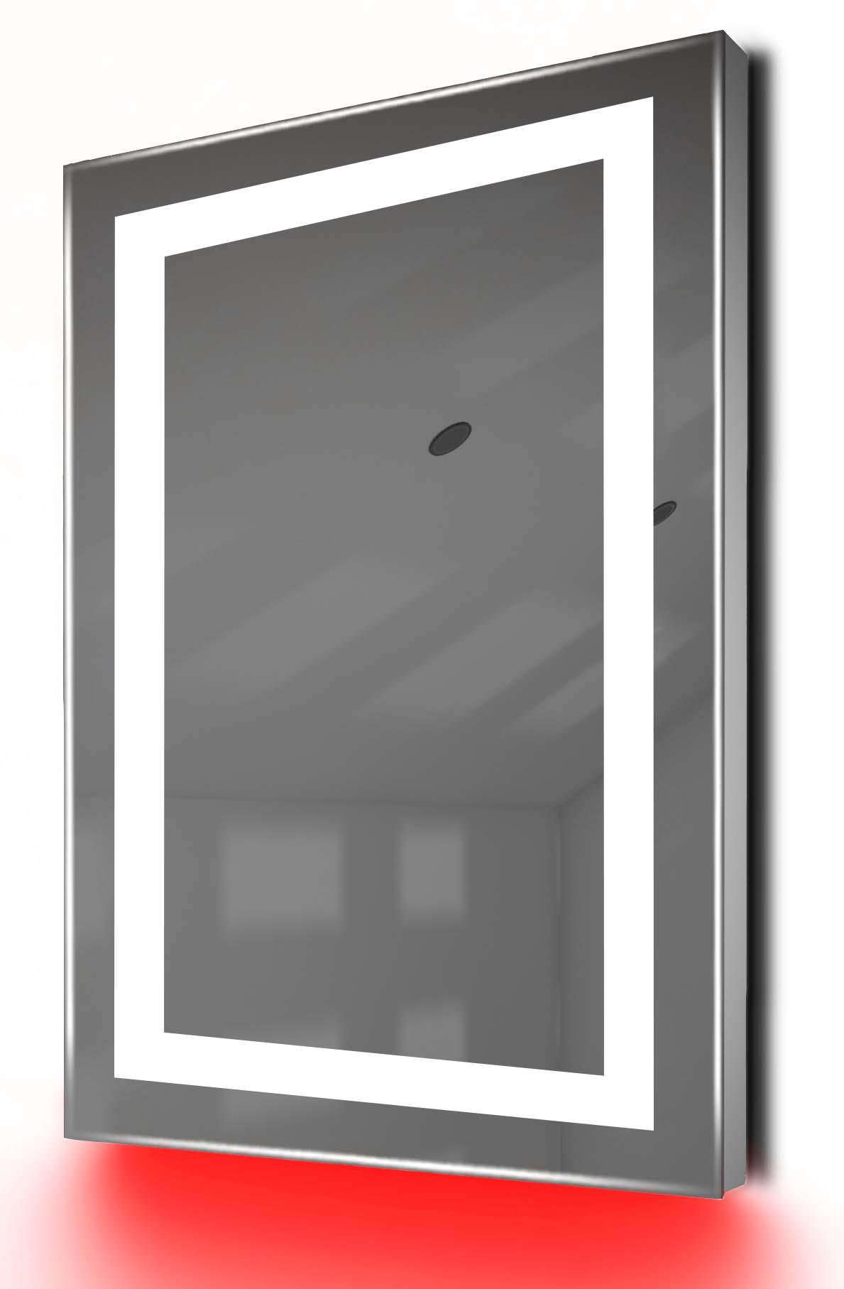 Miroir De Toilette Et Rasage Led Lumière D'Ambiance, Anti-Buée, Capteur K160Ir