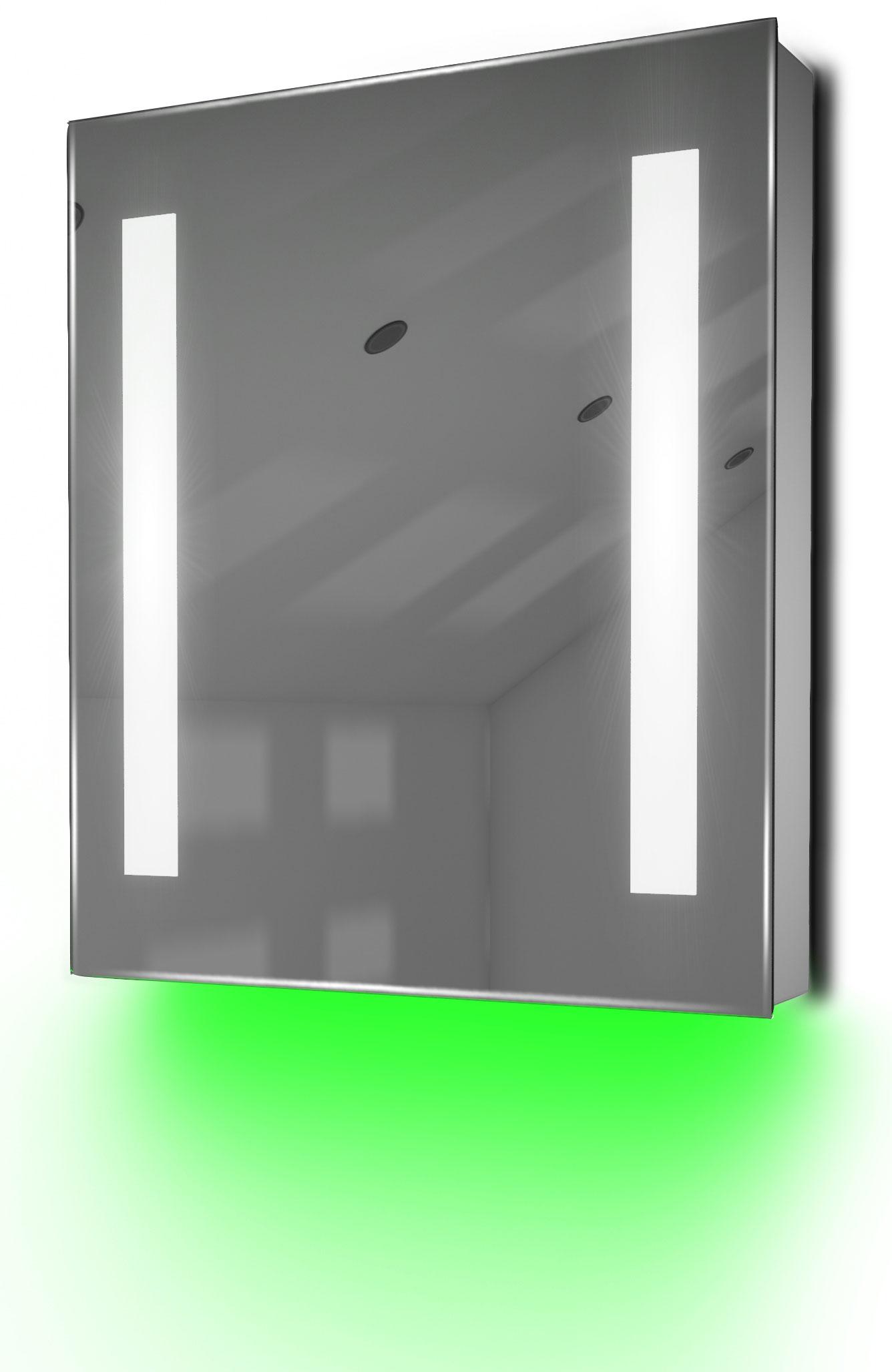 armoire de toilette anti bu e avec capteur et prise rasoir int rieure k78g ebay. Black Bedroom Furniture Sets. Home Design Ideas