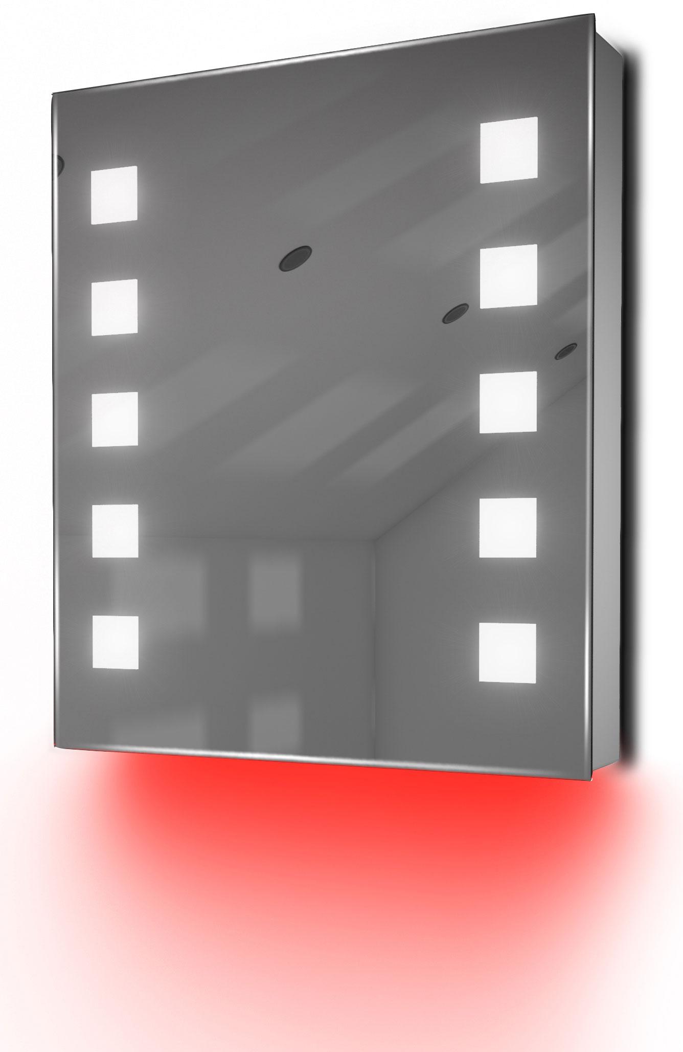 armoire de toilette anti bu e avec capteur et prise rasoir int rieure k79r ebay. Black Bedroom Furniture Sets. Home Design Ideas