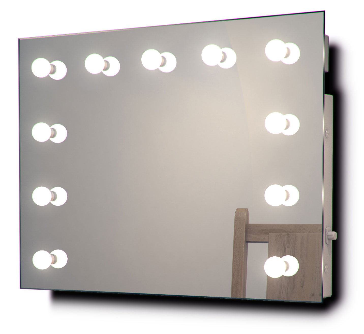miroir de maquillage hollywood vestiaire avec lampes led graduables k95led. Black Bedroom Furniture Sets. Home Design Ideas