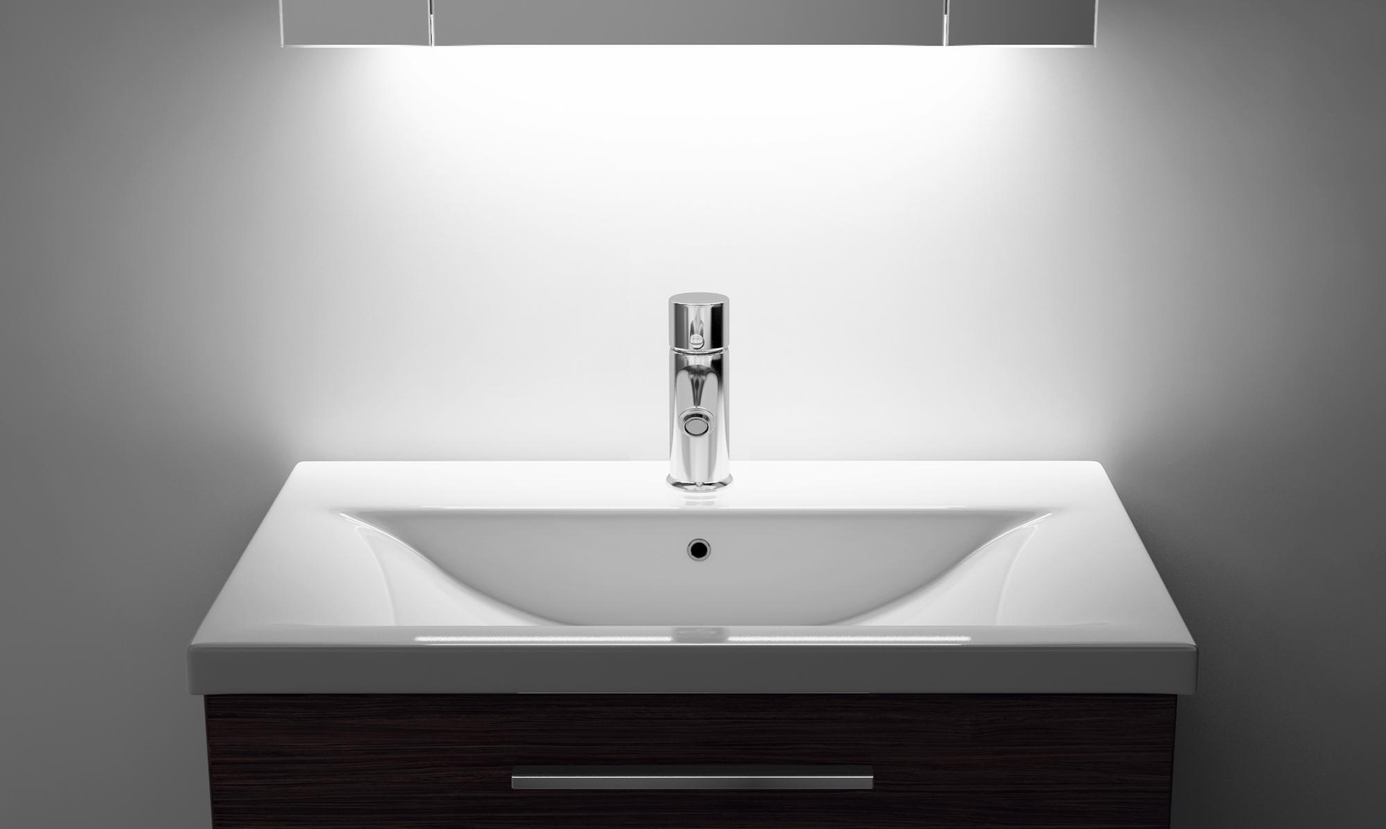 Demist Cabinet With LED Under Lighting, Sensor & Internal Shaver ...