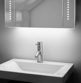 Bathroom Cabinets, Mirrored Bathroom Cabinet with Lights ...