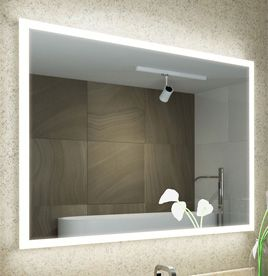 Bathroom mirrors led bathroom mirror with lights illuminated lighted edge aloadofball