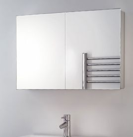 corner mirror medicine sold bathroom cabinet door salvaged mirrored rare impressive single