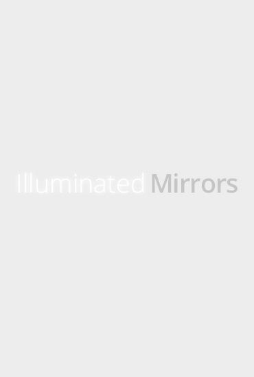 Zebra Print Black Glass Mirror