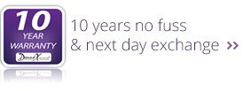 10 years no fuss & nest day exchange
