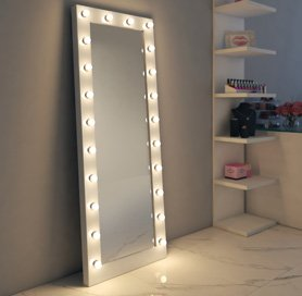 Hollywood Mirror Makeup Vanity Mirrors With Lights Illuminated