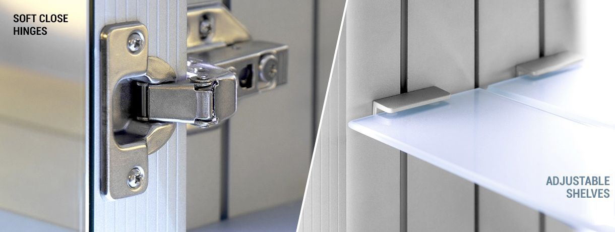 Bar Formation Digital Clock Small Cabinets